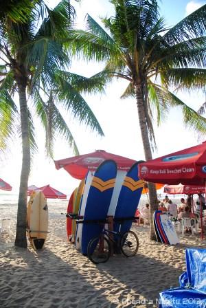 Surf boards for rent, Legian beach