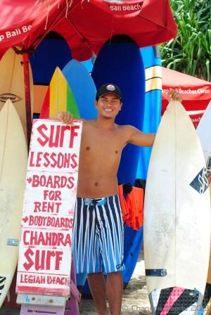 Chandra's surf stand