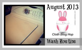 August #clothdiapers #bloghop - my wash routine