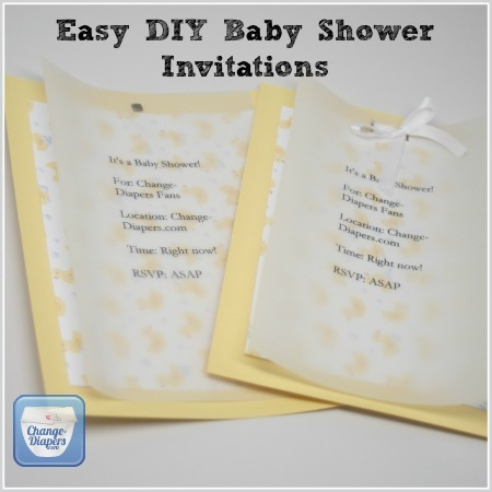 Cloth Diaper Baby Shower Invitations