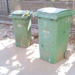 Garbage bin at the gates!
