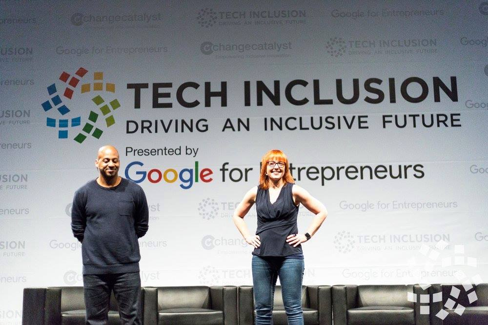 Melinda and Wayne Opening Tech Inclusion Conference