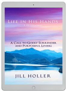 Life in His Hands Devotional Book on iPad