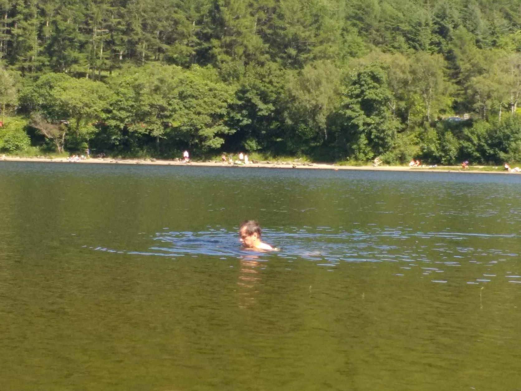 Swimming in Loch Lubnaig