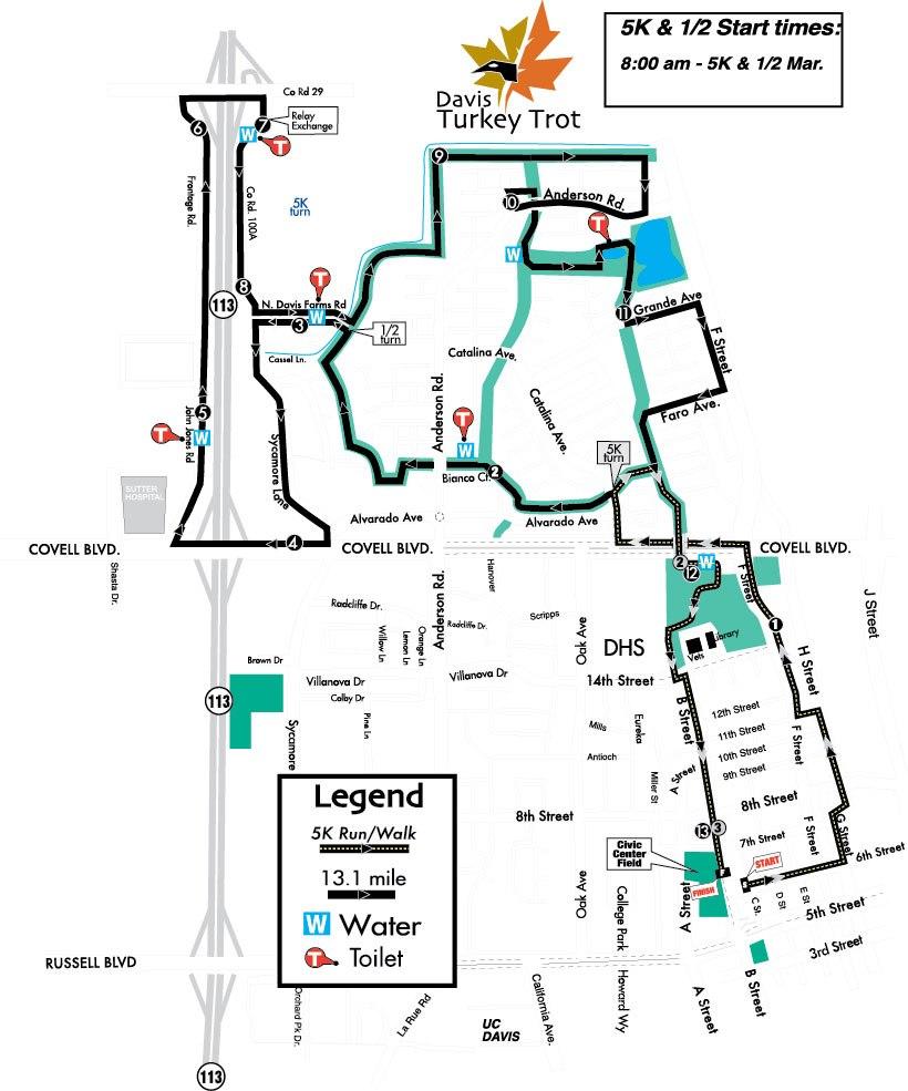 medium resolution of davis turkey trot map
