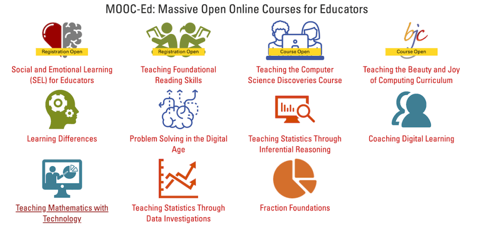 screenshot of courses from the Friday Institute