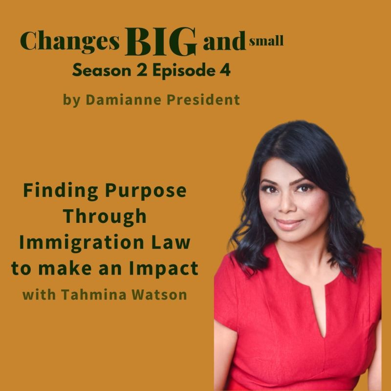 Cover Art for CBaS episode with Tahmina Watson on immigration law and more