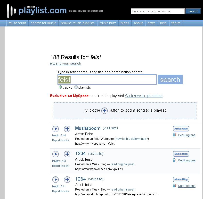 Playlist.com sued by label luddites