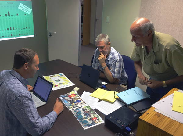 Meeting with Dave Ward and Greg Stuart-Hill at NACSO