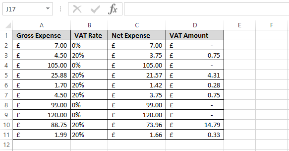 Calculate VAT in Excel - Excel VAT Formula - Change this Limited