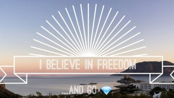 Permalink to: Freedom the magic word we believe in