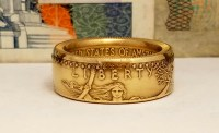 One Ounce Gold Eagle Coin Ring