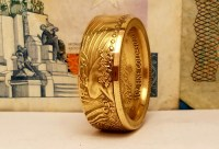 One Ounce Gold Eagle Coin Ring - Coin Rings by The Mint