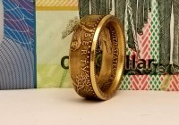 Half Ounce Gold Eagle Coin Ring - Coin Rings by The Mint