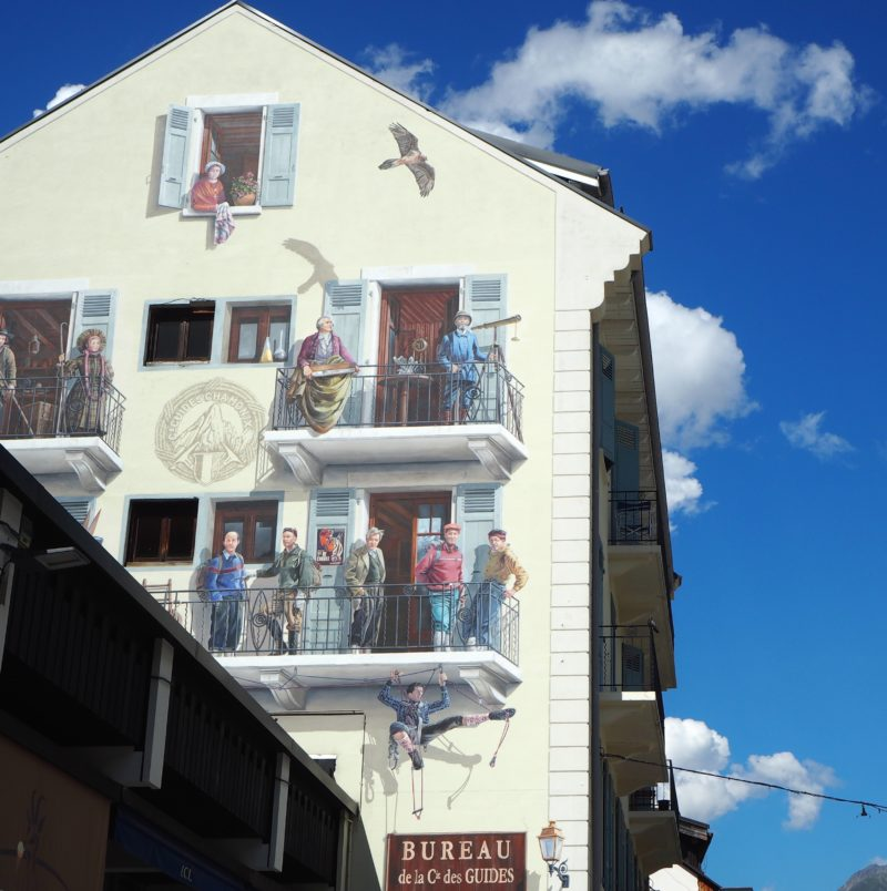Wall mural in Chamonix | Changing Pages | Black Lion Journal