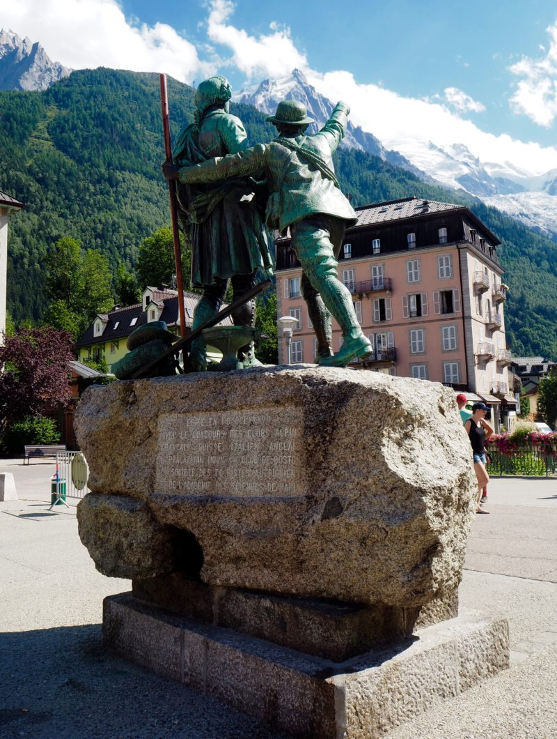 Statue in Chamonix | Changing Pages | Black Lion Journal