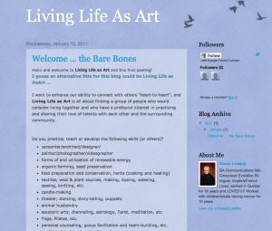 Living Life as Art