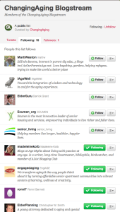 Blogstream Twitter List