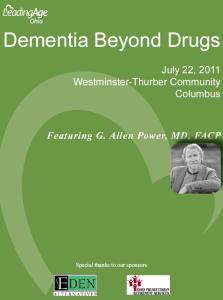 Dementia Beyond Drugs Workshop