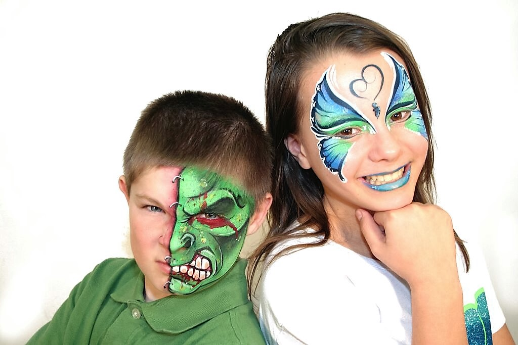 face painting changing faces