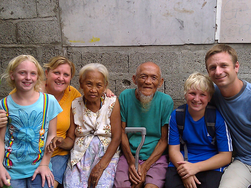 The Suderno's family during their mission trip to the Philippines