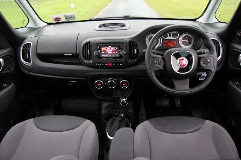 The interior of the new Fiat 500L