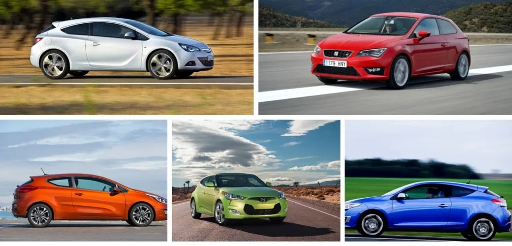 five gorgeous coupes