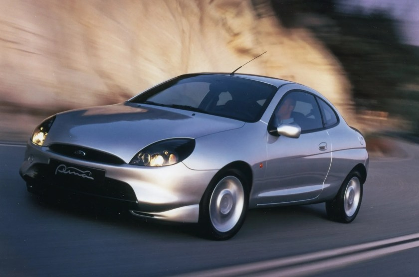 Small coupés like the Ford Puma were really popular when I was growing up