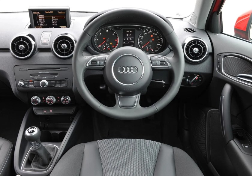 The interior of the 2015 Audi A1