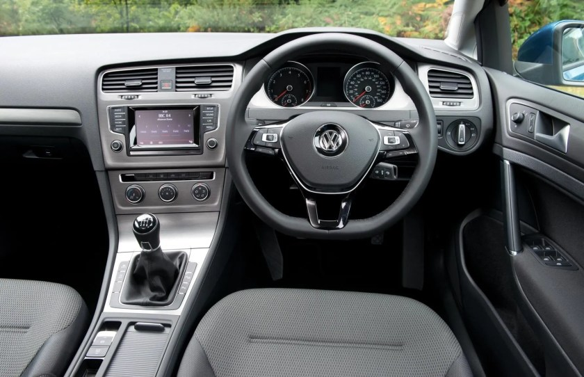 The interior of the Volkswagen Golf Estate