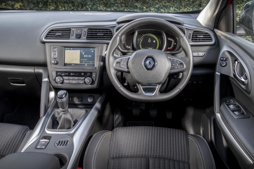 The interior of the Renault Kadjar