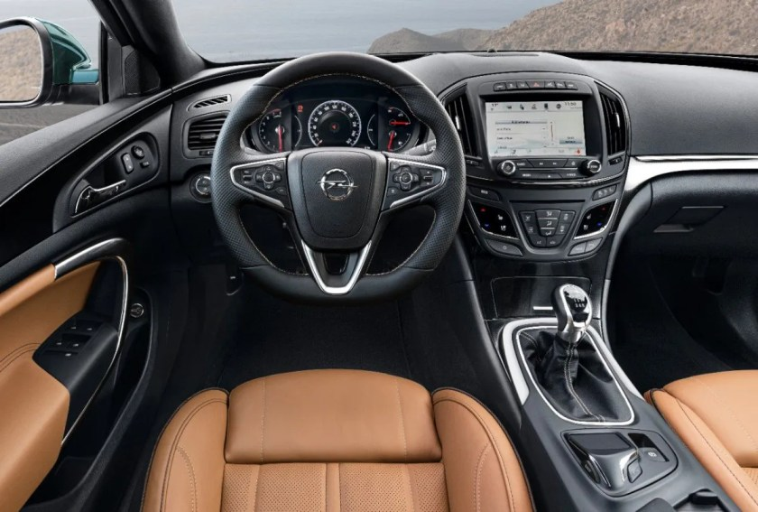 The interior of the first generation Opel Insignia