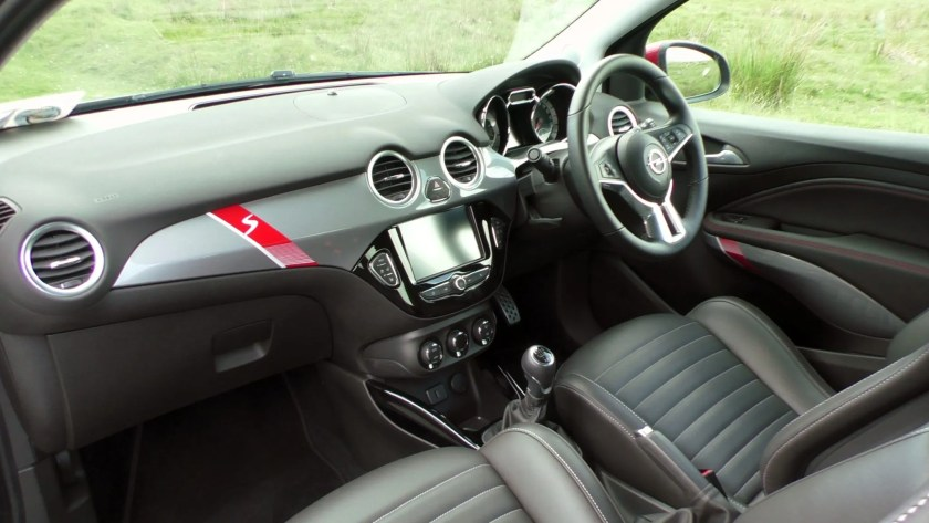 The interior of the 2016 Opel Adam S