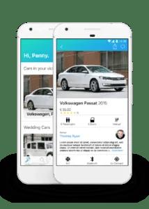 Fleet car sharing app