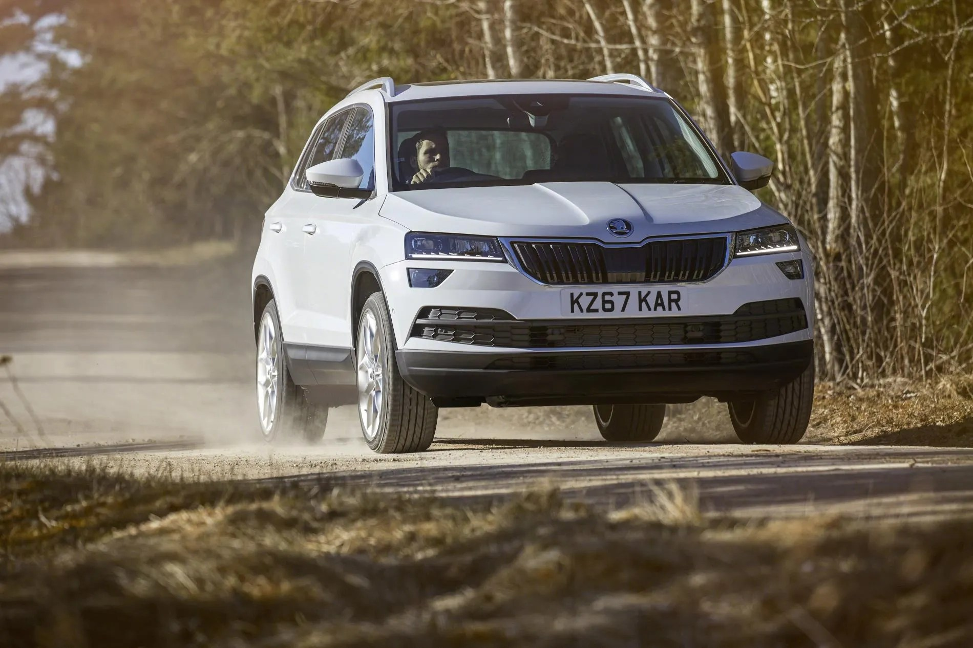 pricing and specs for ireland for new skoda karoq changing lanes