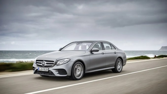 This is a photo of the Mercedes-Benz E-Class Ireland's bestselling premium car in January 2018