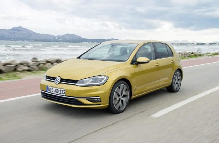The Volkswagen Golf petrol hatchback