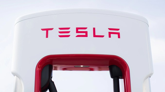 New Tesla Supercharger at Castlebellingham