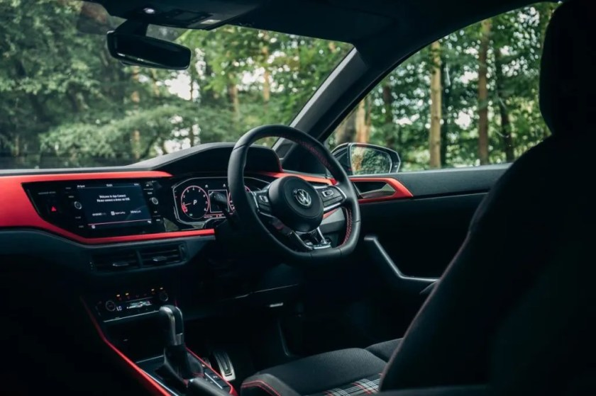 The interior of the new Volkswagen Polo GTI