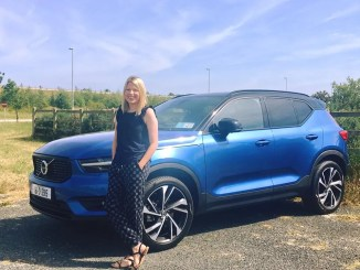Caroline and the new Volvo XC40