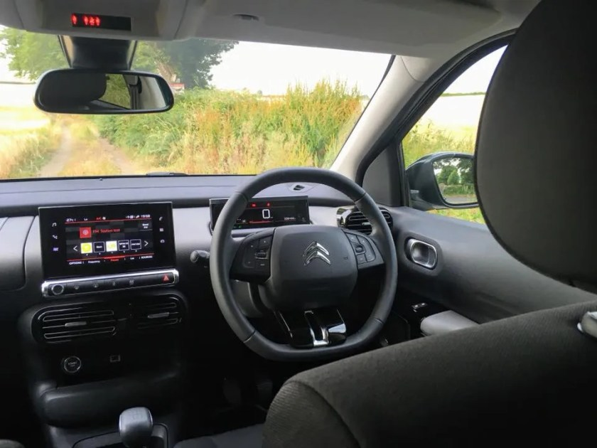 The interior of the 2018 Citroen C4 Cactus