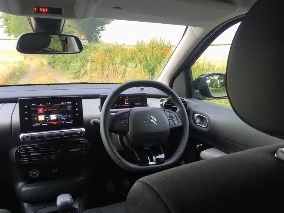 The interior of the 2018 Citroen C4 Cactus
