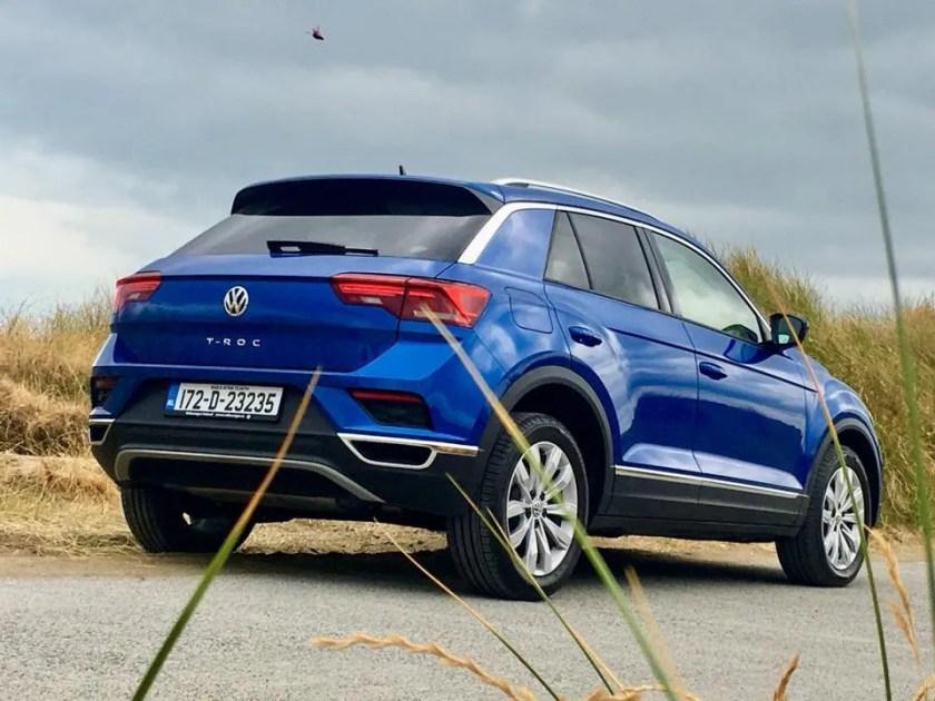 The Volkswagen T-ROC range starts from €24,750 in Ireland