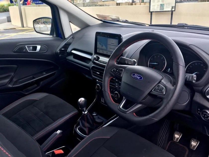 The interior of the 2018 Ford EcoSport