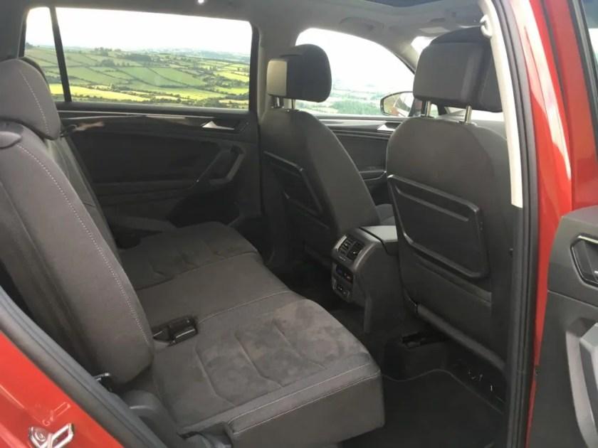Rear legroom in the Volkswagen Tiguan Allspace