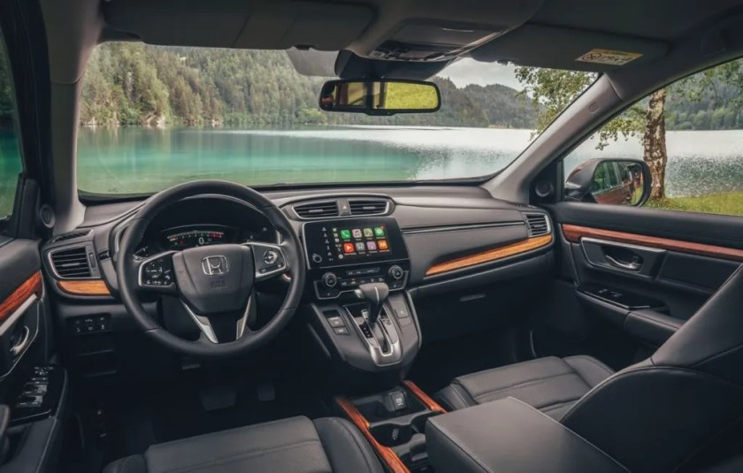 The interior of the new Honda CR-V