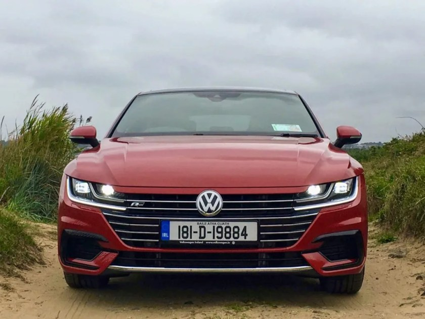 The Volkswagen Arteon is styled like a coupé but inside there is plenty of passenger space