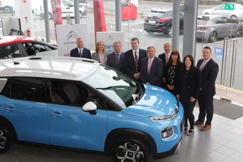 The team at James Barry Motors with members of the team from Citroën Ireland