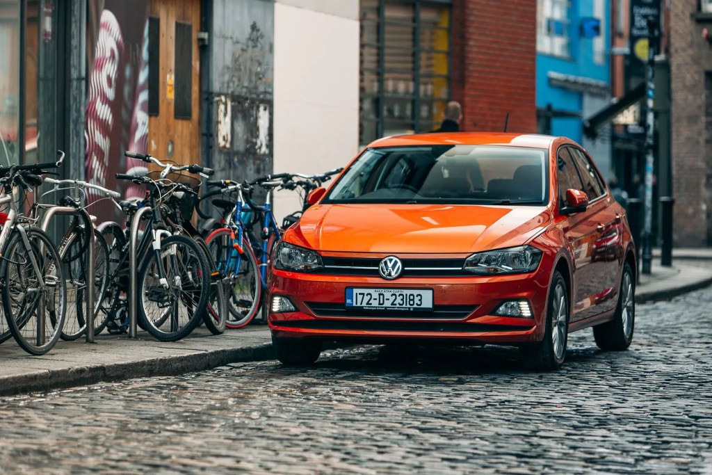 Sales of orange cars have increased this year - like this Volkswagen Polo