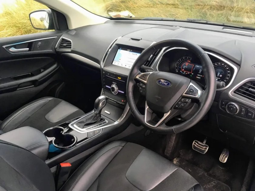 The interior of the new Ford Edge ST-Line